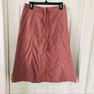 J. CREW pale pink linen blend A line midi skirt 2